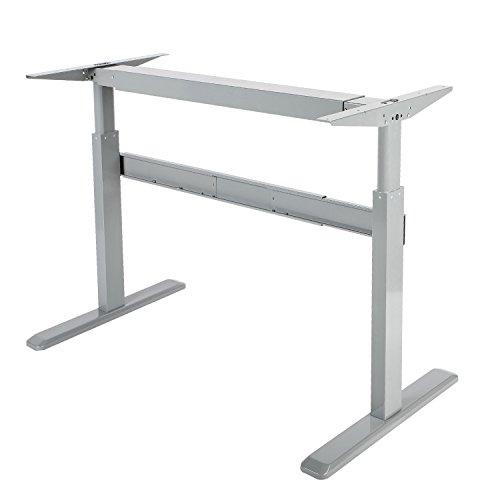 Maclean MC-726 Tischgestell Manuell Höhenverstellbare Arbeitstisch Schreibtisch Kurbel Ohne Tischplatte