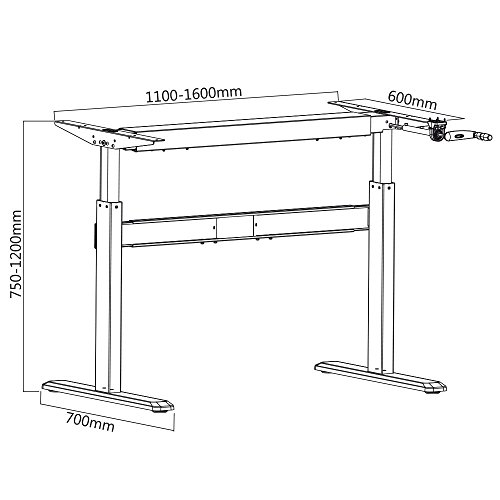 Höhenverstellbarer Schreibtisch Kurbel 2021