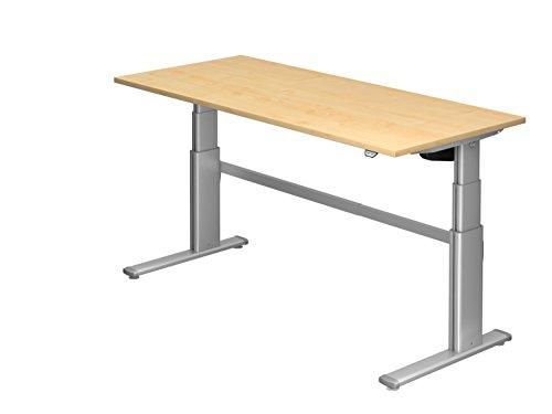Ergobasis Schreibtisch elektrisch höhenverstellbar, 180 x 80 cm, Version 2017 (Ahorn)