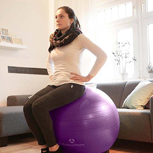 Gymnastikball »Orion« / Robuster Sitzball und Fitnessball von 55cm 65cm 75cm & 85cm inklusive Ballpumpe! / 65 cm / schwarz - 4