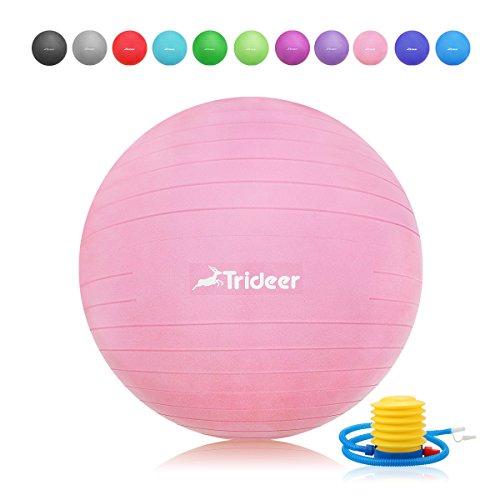 Trideer Robuster Gymnastikball Sitzball Pezziball (Rosa, 65cm ( Geeignet für 162-179cm ))