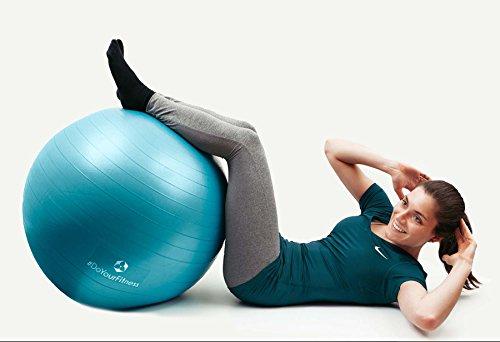 Gymnastik-Ball »Pluto« / Robuster Sitzball und Fitnessball / 65 cm / türkis - 6