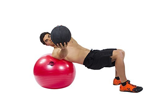 Gymnastikball Fitnessball 65cm mit Pumpe - der Beste für Bauchmuskeln - Stabilität & Tonus - für Cross Fitness - Yoga & Pilates - Bonus Ebook mit 20 Core Crushing Übungen & Workouts - 3
