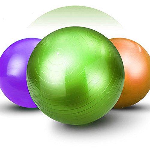 Good Times Gymnastikball, anti burst, Yogaball, Pilatesball, Fitnessball, Sitzball mit Pumpe, rutschfest, berstsicher (65cm Hellgrün)