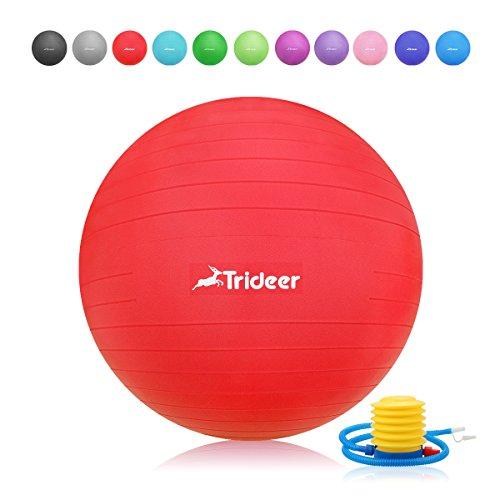 Trideer Robuster Gymnastikball Sitzball Pezziball von 45cm 55cm 65cm 75cm & 85cm inkl. Ballpumpe