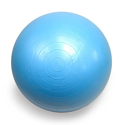 FOURSCOM® Gymnastikball mit Pumpe 75CM Berstsicher Fitnessball Yoga Ball Blau - 2
