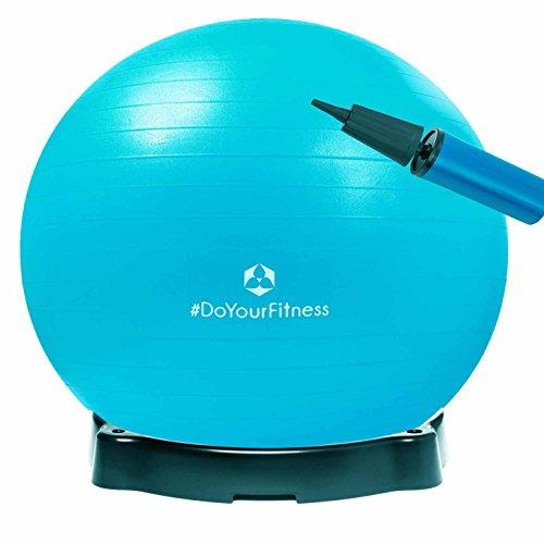 Gymnastikball »Orion« inklusive Ballschale / Robuster Sitzball und Fitnessball / 55 cm / skyblue inklusive Sitzschale