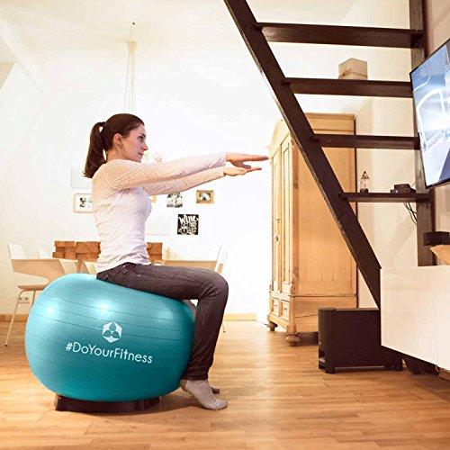 Gymnastikball »Orion« inklusive Ballschale / Robuster Sitzball und Fitnessball / 55 cm / skyblue inklusive Sitzschale - 5