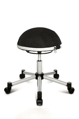 Topstar SH17BB0 Fitness-Hocker Sitness Half Ball /Stoffbezug, schwarz