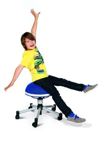 TOPSTAR Drehhocker Sitness Junior Half Ball, blau - 3