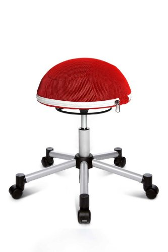 Topstar Sitness Half Ball Junior - Farbe: rot - Teppichbodenrollen