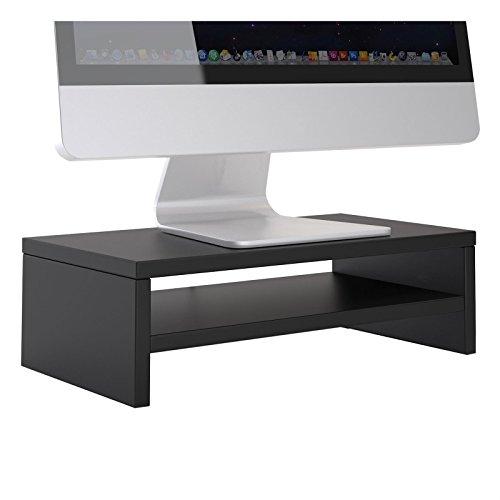 CARO-Möbel Monitorständer SUBIDA Bildschirmaufsatz Schreibtischaufsatz Bildschirmerhöhung mit Ablagefach, in schwarz