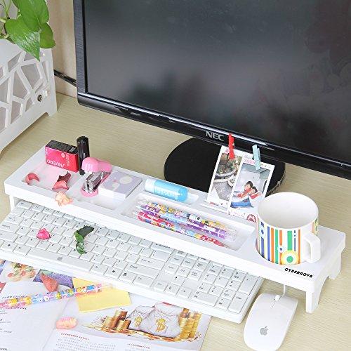 CYBERNOVA Schreibtisch Organizer Kleine Objekte Storage Tastatur Ware Regal,Stauraum für Stationery Gegenstände - 2