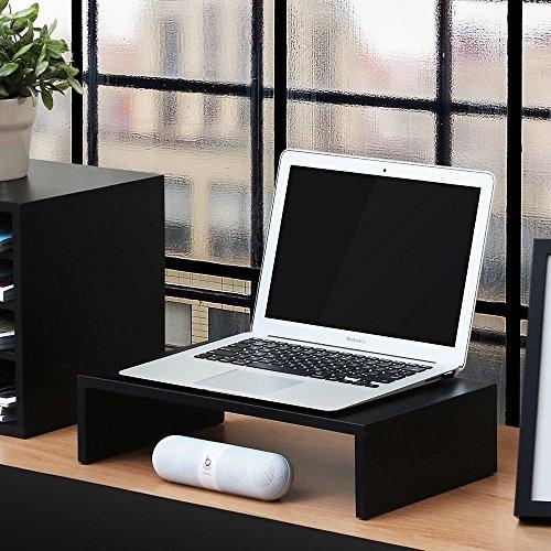 FITUEYES Monitorständer aus Holz 42,5x23,5x10cm schwarz mit Stauraum DT104201MB - 3