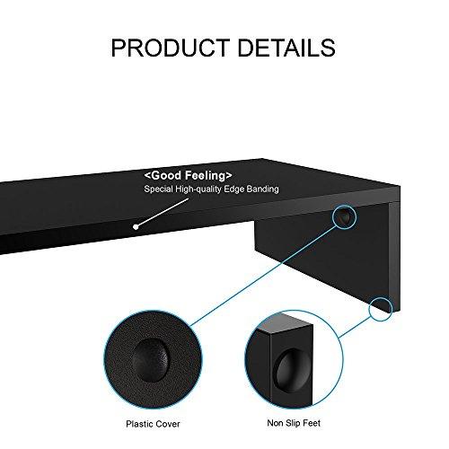 FITUEYES Monitorständer aus Holz 42,5x23,5x10cm schwarz mit Stauraum DT104201MB - 5