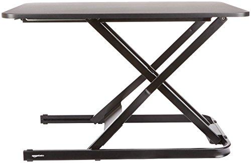 AmazonBasics - Höhenverstellbarer Aufsatz für den Schreibtisch, zum Arbeiten im Sitzen oder Stehen - 5