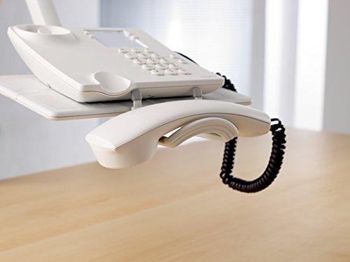 Novus TalkMaster Telefonschwenkarm (mit Telefonablage und 2-gelenkigem Schwenkarm) lichtgrau - 9