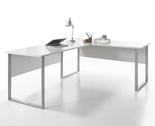 Stella Trading Office Lux Winkelkombination 3tlg. , Holzdekor, Korpus und Front: Lichtgrau, 223 x 77 x 73 cm