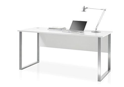 Stella Trading Office Lux Schreibtisch Schmal, Holzdekor, Korpus und Front: Lichtgrau, 223 x 77 x 73 cm