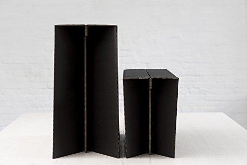 Stehschreibtisch MonKey Desk von ROOM IN A BOX - Large/Schwarz: Faltbares ergonomisches Stehpult, praktischer Ständer für Laptop, PC, Tablet und Monitor, klappbarer Standing Desk für den Schreibtisch - 3