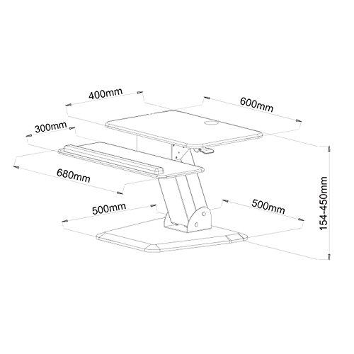 NEG Computertisch ExtenDesk 003B (60,0cm breit) Sitz-/Steh-Arbeitsplatz schwarz - 8