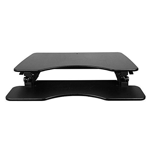 NEG Computertisch ExtenDesk 100B (91,5cm breit) Sitz-/Steh-Arbeitsplatz schwarz - 2