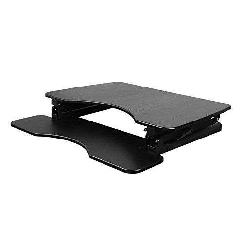 NEG Computertisch ExtenDesk 100B (91,5cm breit) Sitz-/Steh-Arbeitsplatz schwarz - 4