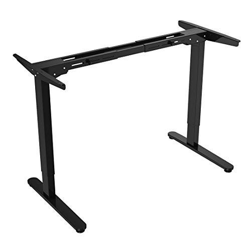 Flexispot E2B Höhenverstellbarer Schreibtisch Elektrisch höhenverstellbares Tischgestell, passt für alle gängigen Tischplatten. Mit Memory-Steuerung und Softstart/-Stop. (Tischgestell-2 Fach Schwarz)